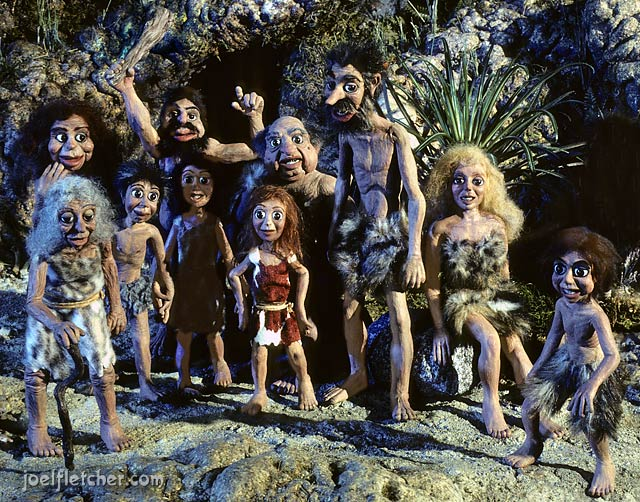 The cave people from STANLEY AND THE DINOSAURS. edge