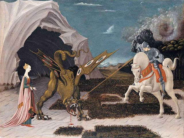 Saint George and the dragon painting