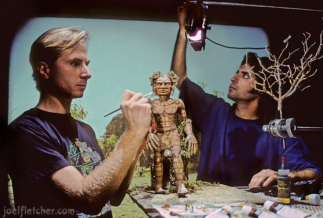 Joel Fletcher and Joseph Grossberg on a dynamation stop-motion set