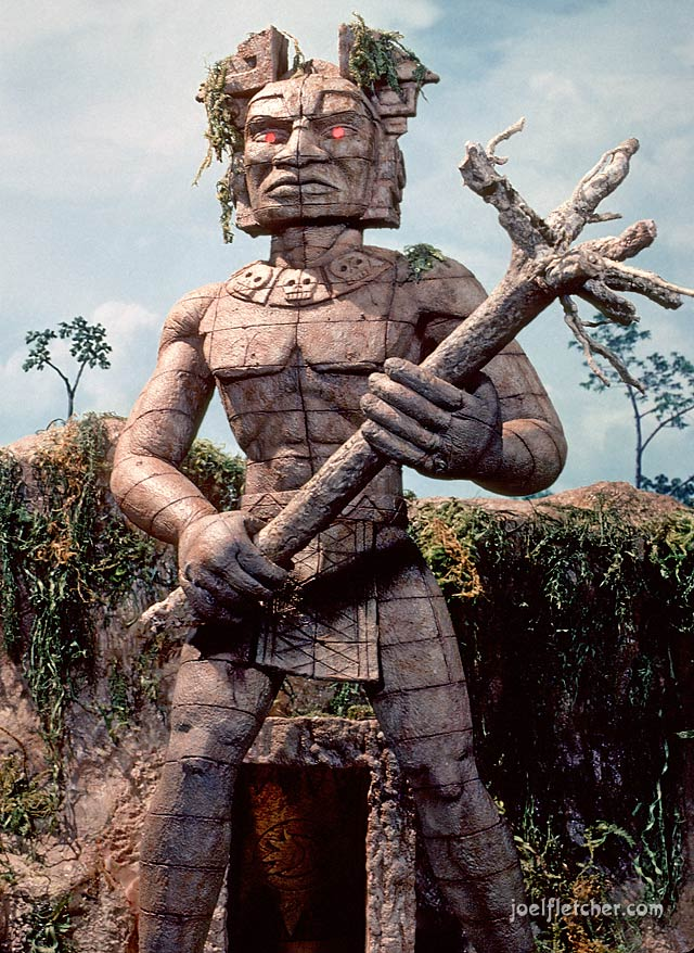 The giant statue from the movie Magic Island