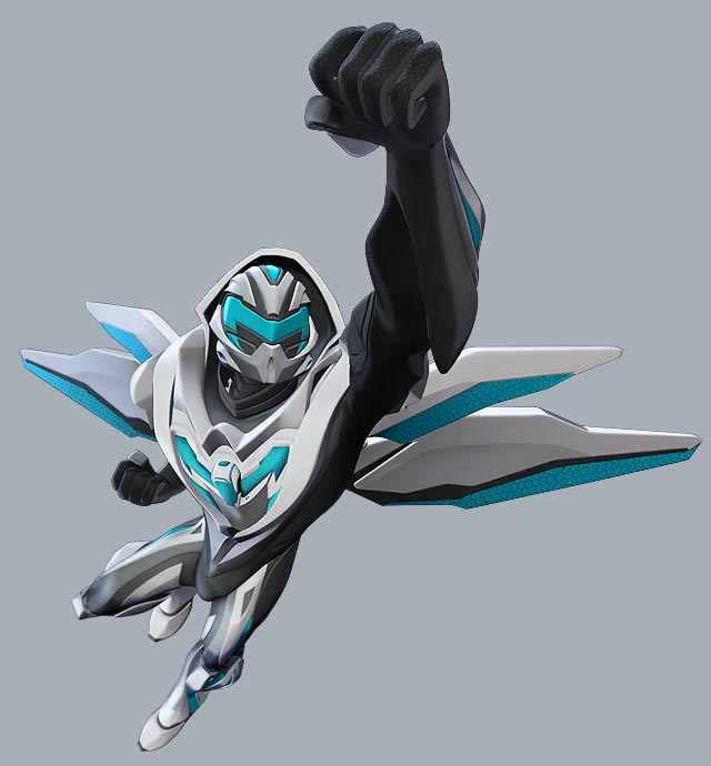Max Steel in flight suit. edge