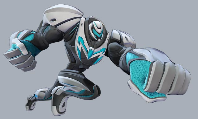 Max Steel in strength mode. edge