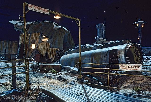 Entrance to spaceship junkyard. edge