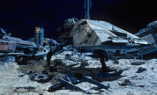 Space hopper in scrap yard. edge