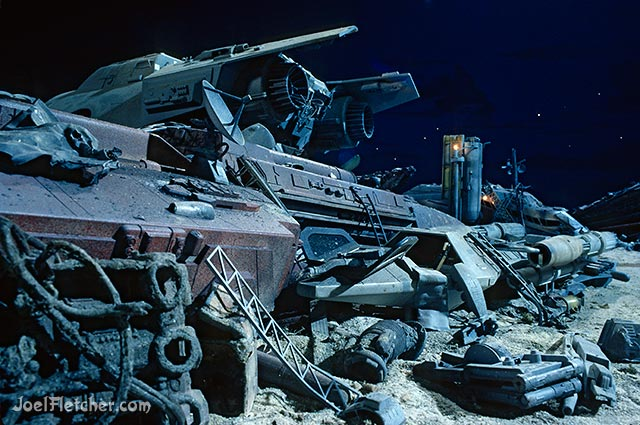 Piles of wrecked space ships. edge