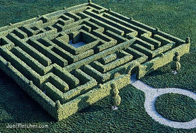 Labyrinth made of hedges. edge