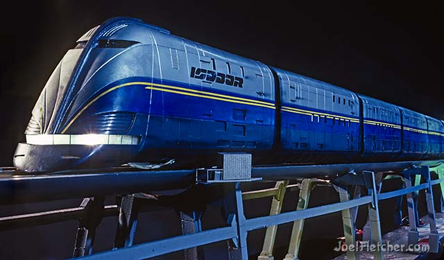 Futuristic train. edge