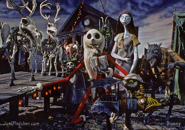 Jack Skellington with Sally and other characaters. edge