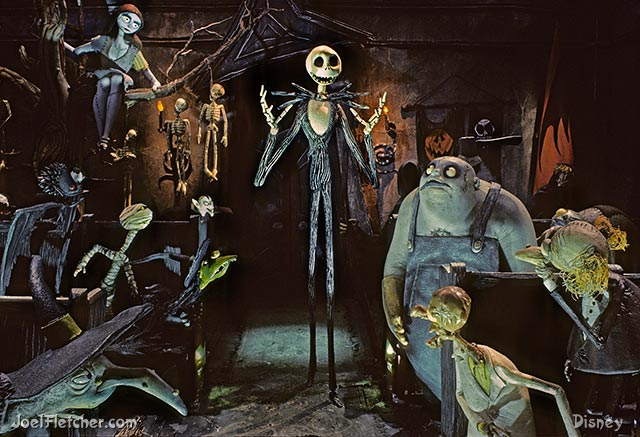 Jack Skellington in a hall meeting. edge