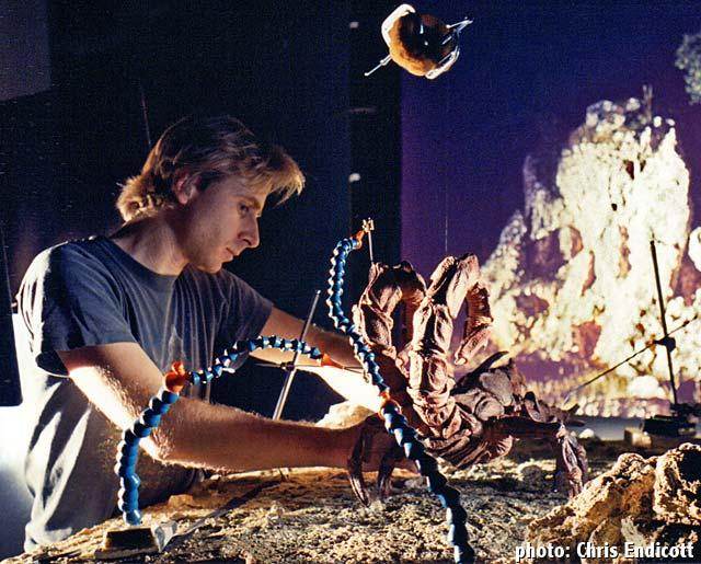 Joel Fletcher animates a gigantic scorpion for the film Oblivion. edge