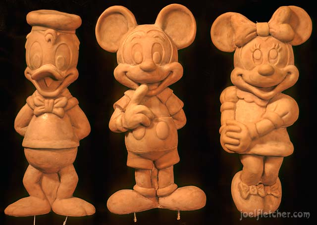 Disney characters in clay. edge