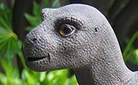 Face of a cute dinosaur