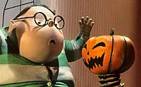 Howie and pumpkin from The Nightmare Before