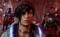 The character Kait from Gears of War