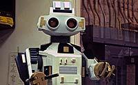 Closeup of a robot