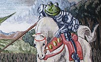 Frog as a knight