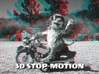 3d stop-motion anaglyph