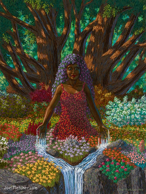 Visionary symbolic painting of Mother Earth. gallery