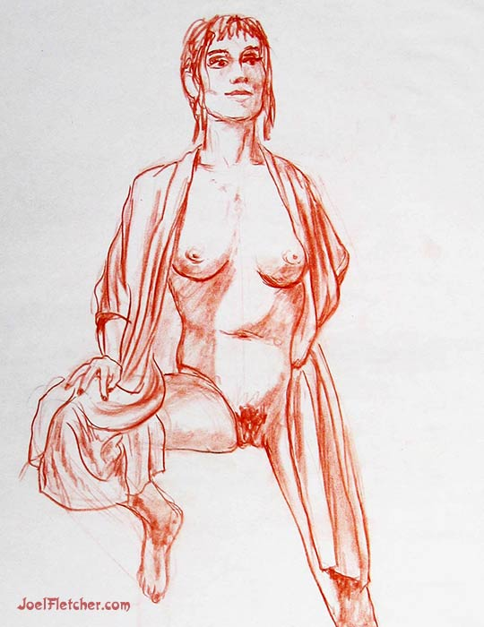 Drawing of an artist model. gallery
