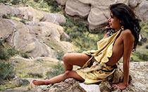 Pretty cave woman