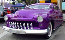 Purple custom mercury automobile