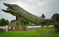 Colossal fish statues