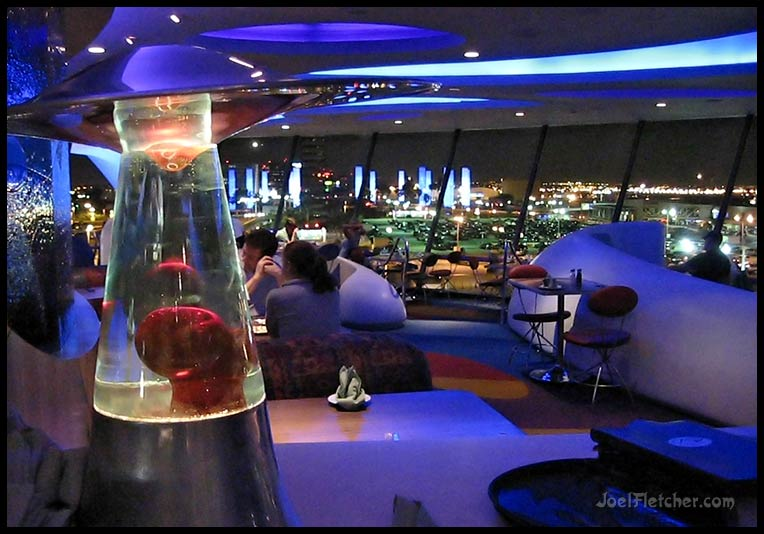 Space age theme restaurant by airport. gallery