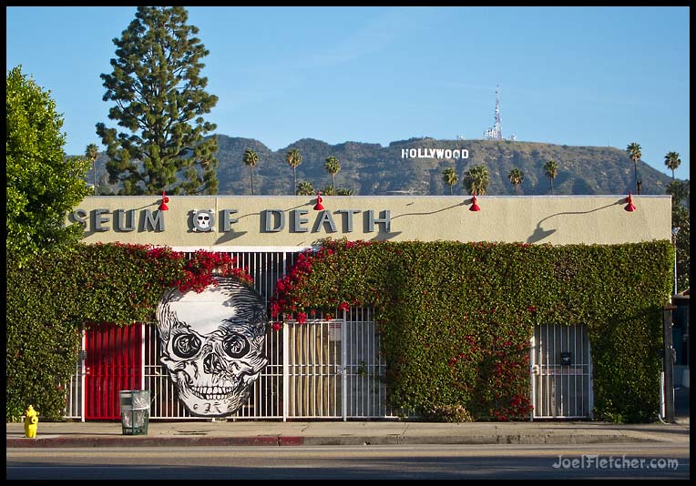 Building with giant skull in hollywood. gallery