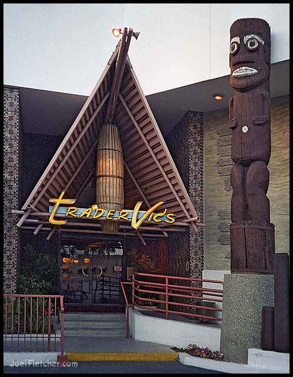 Polynesian restaurant with gigantic tiki. gallery