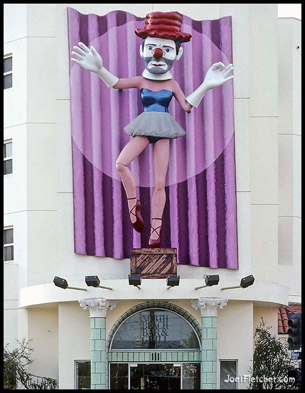 Huge ballerina clown sculpture. gallery